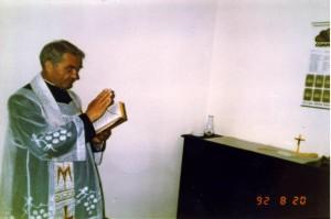 Ksiądz Jan Sobotka - święcenie biura 1992 rok