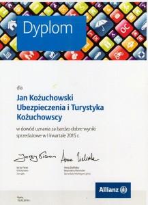 allianz dyplom 2015 jerzy visan anna zielińska